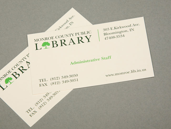 Quarto design public library identity monroe county public library business card colourmoves
