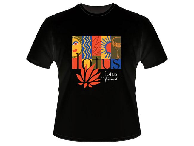 Quarto design lotus festival poster t shirt for T shirt design festival